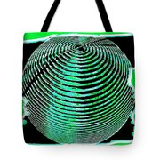 Sphere In Green Tote Bag