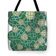 Spheres Cluster Green Tote Bag
