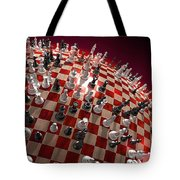 Spherical Chess Board World Tote Bag