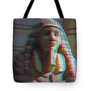 Sphinx - Use Red-cyan 3d Glasses Tote Bag