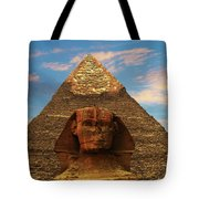 Sphinx And Pyramid Of Khafre Tote Bag