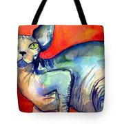 Sphynx Cat 6 Painting Tote Bag