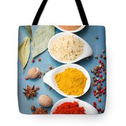 Spices On Blue   Tote Bag