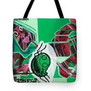 Spider And Human Faces Tote Bag