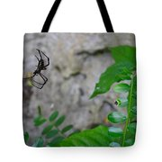 Spider In Thin Air Tote Bag
