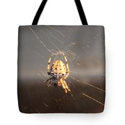 Spider In Wait Tote Bag