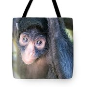 Spider Monkey Vertical View Tote Bag