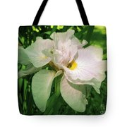 Spider On Iris Tote Bag