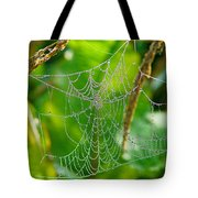 Spider Web Artwork Tote Bag