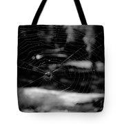 Spider Web Black White Tote Bag