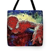 Spiderman Climbing  Tote Bag