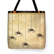 Spiders For Halloween Tote Bag