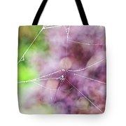 Spiderweb In The Mist Tote Bag
