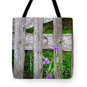 Spiderworts By The Gate Tote Bag