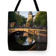 Spiegelgracht Canal In Amsterdam. Netherlands. Europe Tote Bag