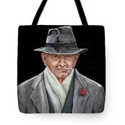 Spiffy Old Man Tote Bag
