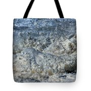 Spikey Frothy Splash Of A Momenary Water Sculpture Tote Bag