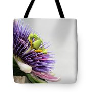 Spikey Passion Flower Tote Bag
