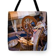 Spinning And Weaving Tote Bag
