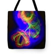 Spinning Color Lights Tote Bag