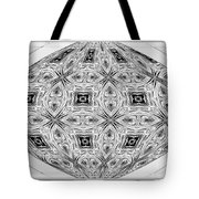 Spinning Globe In Black And White Tote Bag