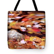 Spinning Leaves Of Autumn Tote Bag