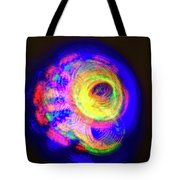 Spinning Universe Light Painting Tote Bag