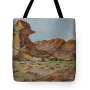 Spinx In The Valley Of Fire Tote Bag