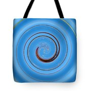 Have A Closer Look. Spiral Art With Light And Dark Blue Embossing Effect.  Tote Bag