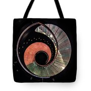 Spiral Glass Stairs Tote Bag