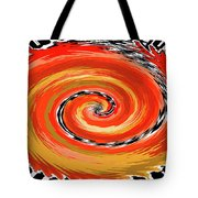 Spiral Of Fire Tote Bag