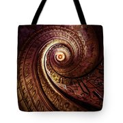 Spiral Staircase In An Old Abby Tote Bag