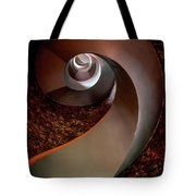 Spiral  Staircase In An Old Lighthouse Tote Bag