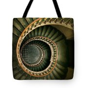 Spiral Staircase  In Green And Yellow Tote Bag