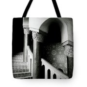 Spiral Stairs- Black And White Photo By Linda Woods Tote Bag