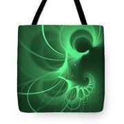 Spiral Thoughts Green Tote Bag