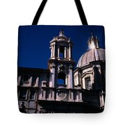 Spire And Cupola St Agnese In Agone Piazza Navona Rome Italy Tote Bag
