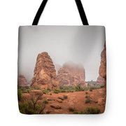 Spires In The Mist Tote Bag