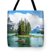 Spirit Island, Jasper National Park Tote Bag