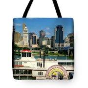 Spirit Of America And Cincinnati  Tote Bag