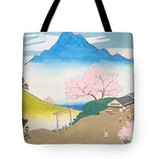 Spirit Of Shinto And Ukiyo-e In The Light Of Nature Tote Bag