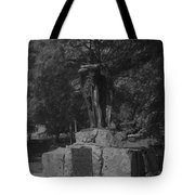 Spirit Of The Confederacy Black And White Tote Bag