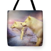 Spirit Of The White Wolf Tote Bag
