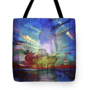 Spiritual Rising At Sunset Tote Bag