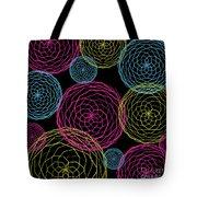 Spiro Blooms In Noir Tote Bag