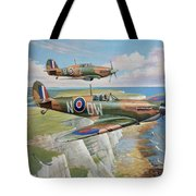 Spitfire And Hurricane 1940 Tote Bag