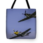 Spitfire And Mustang Tote Bag