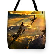 Spitfire Attack Tote Bag by Chris Lord