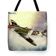 Spitfire Tote Bag by Marc Stewart