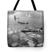 Spitfire Sweep Black And White Version Tote Bag